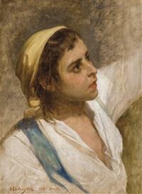 jeune garçon espagnol (study for le cortège du vendredi saint à seville) by nicaise de keyser