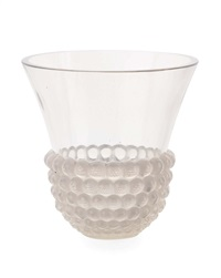 graines opalescent glass vase by rené lalique