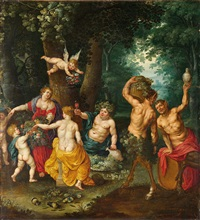 das fest des bacchus (sine cerere et baccho friget venus) by jan brueghel the younger and jan van balen