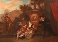 théâtre italien by jean antoine watteau