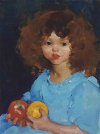 girl with fruit by martha walter