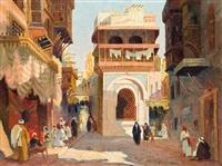 street of cairo by aleksander laszenko