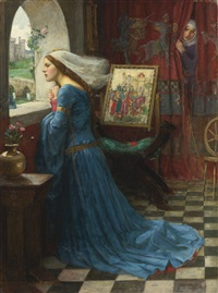 fair rosamund by john william waterhouse