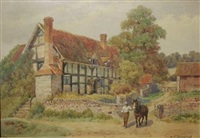 dudging-exhall shakespeare village by alfred robert quinton