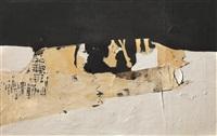 bianco nero by alberto burri