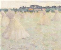 haystacks by eanger irving couse
