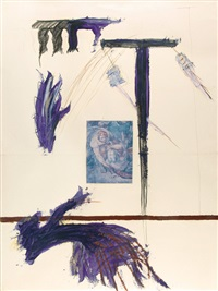 the conversion of st. paul (on 2 sheets mntd together) by julian schnabel