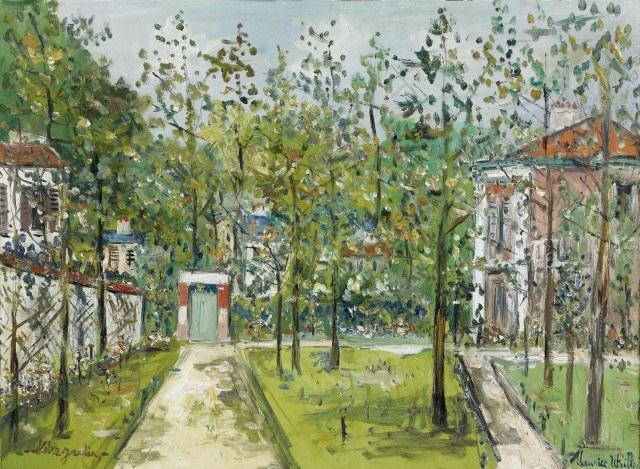 Le jardin dutrillo au vesinet yvelines von maurice utrillo for Jardin yvelines