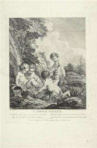 l'amour nageur (collab. w/dominique sornique, after francois boucher) by pierre aveline