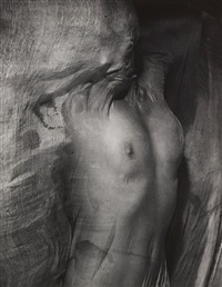 nude under wet silk, paris by erwin blumenfeld