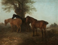 horses beneath a spreading tree by edward robert smythe