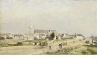 vue d'un village by stanislas lépine