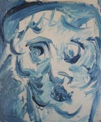 visage bleu by karel appel
