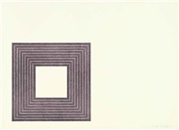 purple series (set of 9) by frank stella