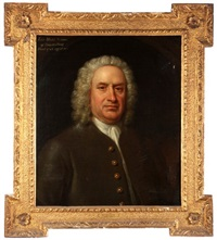portrait of mr. john watts by william hogarth