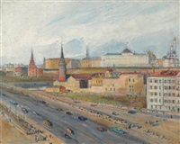 view of the kremlin by alexandre arkadevich labas