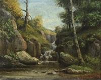 rivière en sous-bois by gustave courbet