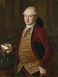 ritratto di gentiluomo con lettera in mano indirizzata a monsieur pierre labruzzi, peintre romain a rome by anonymous (18)