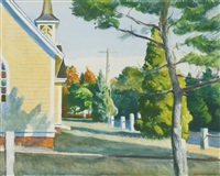 church in eastham by edward hopper
