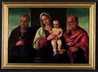 vierge à l'enfant entourés de saint pierre et saint antoine by giovanni bellini
