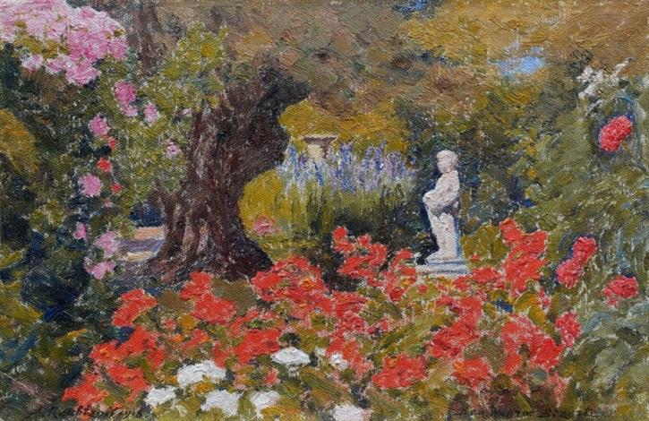 Le jardin fleuri à ben negro, Bizerte von Alexandre Roubtzoff auf artnet