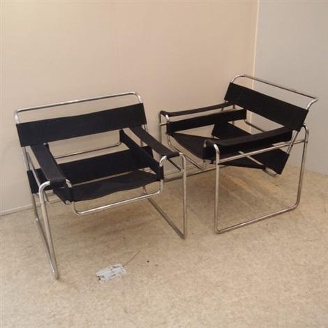 Paire de fauteuils, modèle Vassily von Marcel Breuer auf artnet