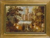 paysage aux animaux by roelandt savery