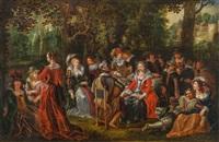 elegante gesellschaft by david vinckboons