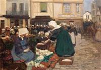 marché en bretagne by fernand piet