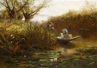 where the water lilies grow by james aumonier