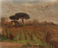 landscape from terracina, italy by julius paulsen