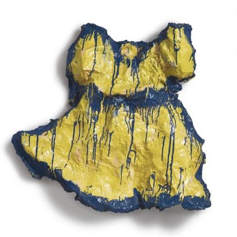 yellow girls dress by claes oldenburg