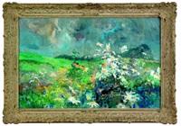 floral landscape by louis b. sloan