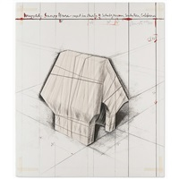 wrapped snoopy house, project for charles m. schulz museum by christo and jeanne-claude
