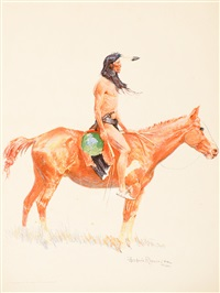 a bunch of buckskins (portfolio w/8 works) by frederic remington