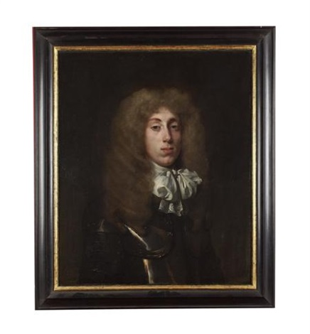 portrait of a young man in armor and white cravat by john hayls