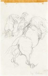 horse studies by eugène delacroix