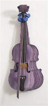 sliced stradivarius-purple (collab. w/coosje van bruggen) by coosje van bruggen and claes oldenburg