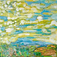 landscape with clouds by arie smit