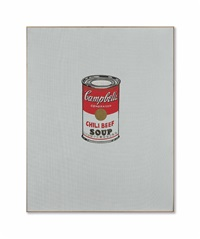 small campbell's soup can (chili beef) by andy warhol