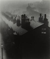misty evening in sheffield by bill brandt