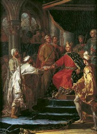 saint louis recevant l'ambassadeur du roi de tartarie (sic) by nicolas guy brenet