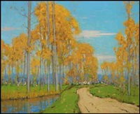 landscape with trees by charles herbert eastlake