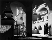 arches, north court mission san xavier del bac, tucson, arizona by ansel adams