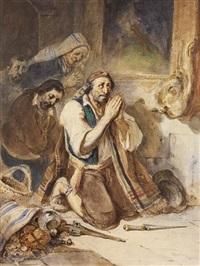 bandits en prière by nicolas toussaint charlet