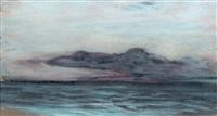 nuage sur la mer by claude monet
