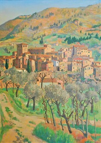tuscan village by justin maurice o'brien