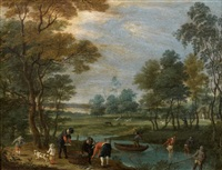 pêcheurs à la rivière by isaac van oosten
