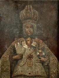 la vierge à l'enfant by peruvian school-cuzco