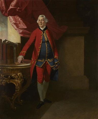 full length portrait of sir william young governor of st domenica by johann joseph zoffany